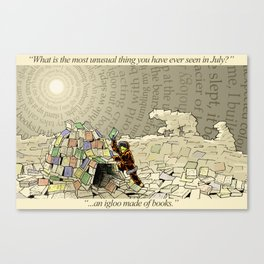 An Igloo Made of Books Canvas Print