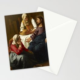 Johannes Vermeer - Christ in the House of Martha and Mary Stationery Cards