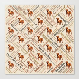 Dogue de Bordeaux Word Art Canvas Print
