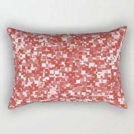 Aurora Red Pixels Rectangular Pillow