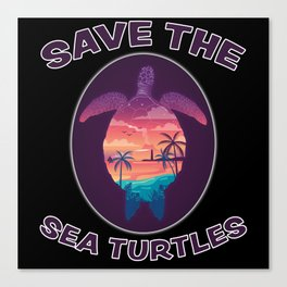 Cute Turtle Design Turtles Animal Sea Gift Canvas Print