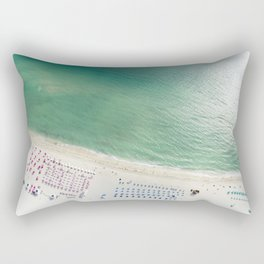 Helicopter View of Miami Beach Rectangular Pillow