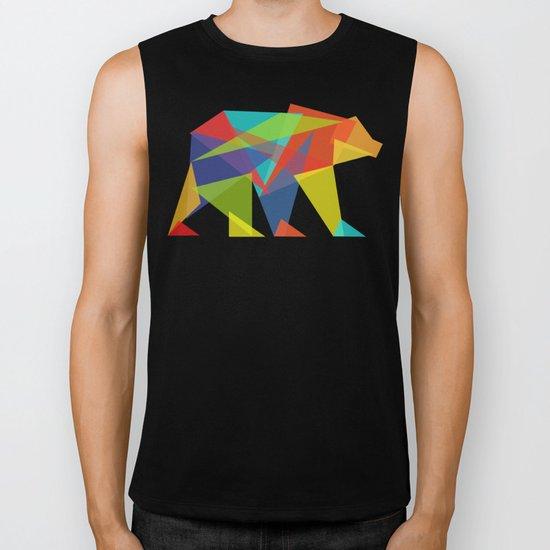 Fractal Geometric bear Biker Tank