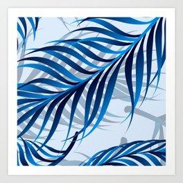 Blue Tropic Art Print