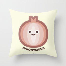 Onionymous Throw Pillow