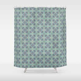 Butterfly Semi-Plaid Shower Curtain