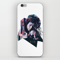 ripley iPhone & iPod Skins featuring Ellen Ripley : HARD ACTRESS by mergedvisible
