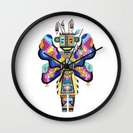 Kachina Butterfly 4 Wall Clock