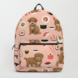 Bichpoo sushi dog breed cute pet portrait pet friendly pattern dog lover gifts Backpack