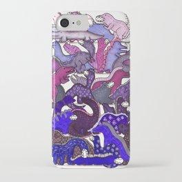 Purple Dinosaur Gradient iPhone Case