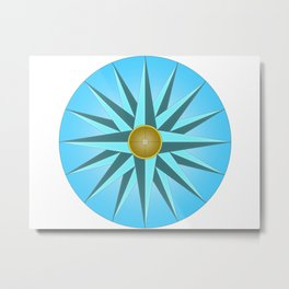 Mariners Compass Metal Print
