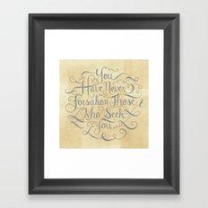 Psalm 9 Framed Art Print