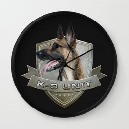 K9 Unit  - Malinois Wall Clock