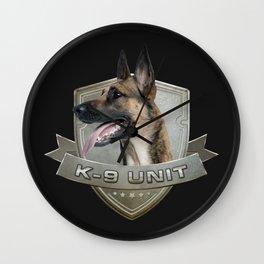 K9 Unit  - Malinois Wall Clock