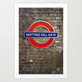Notting Hill Gate Tube Sign Art Print