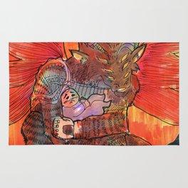 baal goetia demon Rug