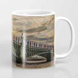 Sunset over Trinity Bridge, Saint Petersburg Coffee Mug