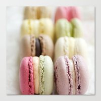 macaron Canvas Prints featuring macaron by Susigrafie