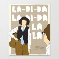 annie hall Canvas Prints featuring La-Di-Da - Annie Hall by Mike Oncley