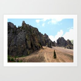 Rocky Crags above the Sunnyside Mill at Eureka Art Print