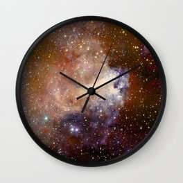 Deep-space nebula Wall Clock