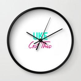 Uke Got This Ukulele Strumming Through Life Ukelele Music Wall Clock