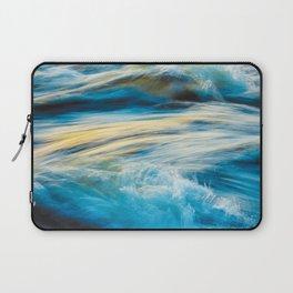 Blue Ocean Waves No2 Laptop Sleeve