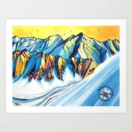 Majestic Heli Ski 2017 Art Print