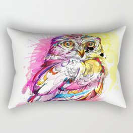 Neon Northern Pygmy Owl Rectangular Pillow
