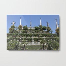 Gardens of Borromeo Palace on Isola Bella, Stresa,Italy. Metal Print