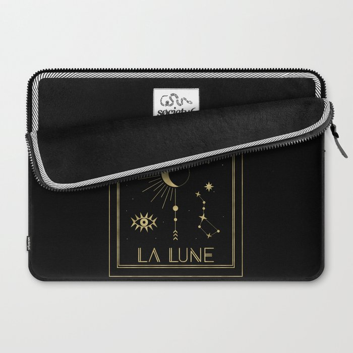 The Moon or La Lune Gold Edition Laptop Sleeve