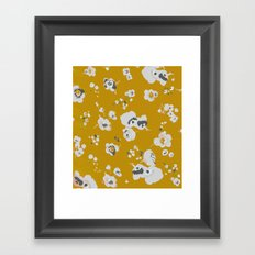 mustard poppies Framed Art Print