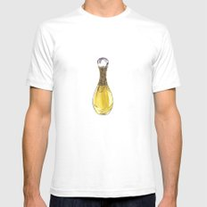 J'adore L'or Mens Fitted Tee White SMALL