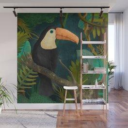 Toucan Bird in the Jungle Wall Mural