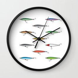 Fishing Plugs Wall Clock