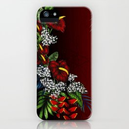 Exotic Tropical Flowers iPhone Case