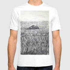 THE SOUND OF SILENCE Mens Fitted Tee White MEDIUM