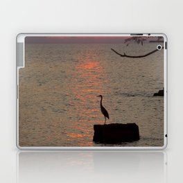 Sunset with Heron Laptop & iPad Skin