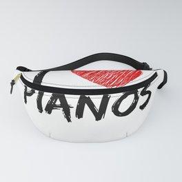 I Love Pianos Fanny Pack