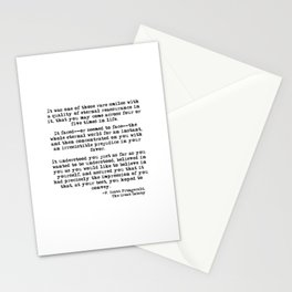 It was one of those rare smiles - F. Scott Fitzgerald Stationery Cards