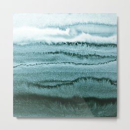 WITHIN THE TIDES SUMMER MINT by Monika Strigel Metal Print