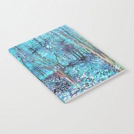 Van Gogh Trees & Underwood Turquoise & Amethyst Notebook