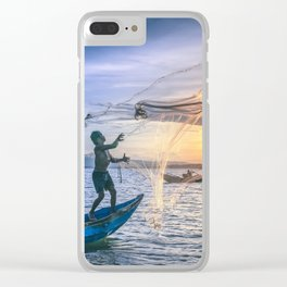 Cast the Net Clear iPhone Case