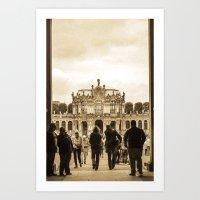 postcard Art Prints featuring Postcard by Gaby Arauz