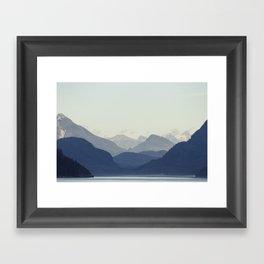 Alaska sailing Framed Art Print