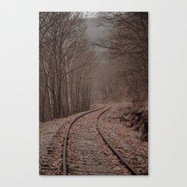 Eerie Train Tracks (Color) Canvas Print