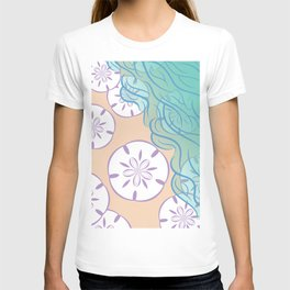 Sand Dollar on a Summer Ocean Beach T-shirt