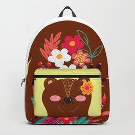 Floral Bear Backpack