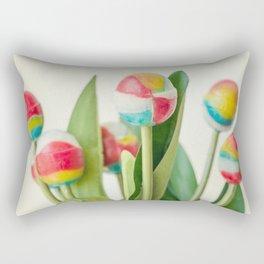 Lollipop Bouquet, Little Girl Room Decor, Wall Art Print Girl, Children Room Print, Lollipop Image Rectangular Pillow