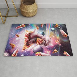 Outer Space Pizza Cat - Rainbow Laser, Taco, Burrito Rug